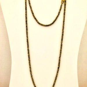 """Grace & Heart Pyrite 38"""" Long Necklace Versatile"""